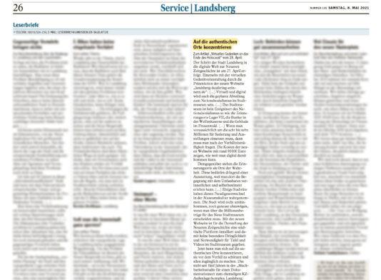 20210508 Landsberger Tagblatt Leserbrief Hauck Wolfgang